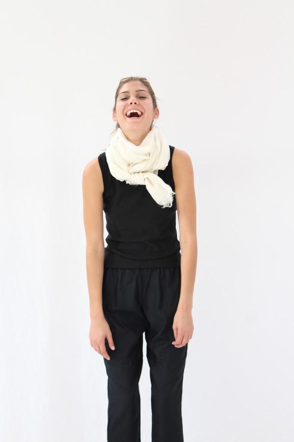 Beklina Tank Cotton / Silk Knit Black
