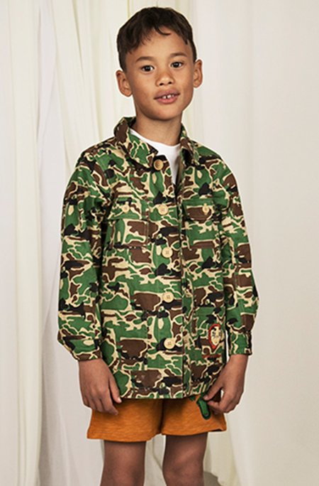 Kids Mini Rodini Safari Camo Jacket