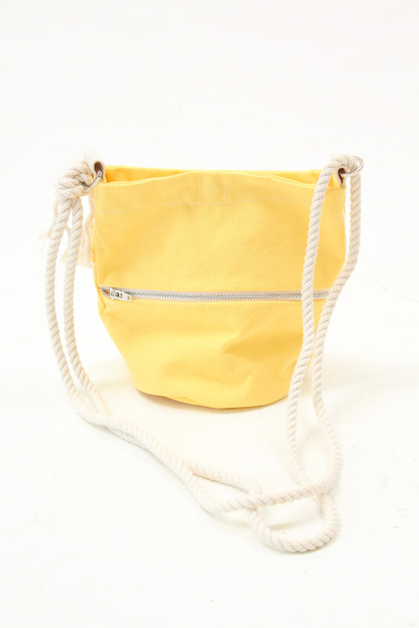 Lotfi Mini Bucket Bag Lemon