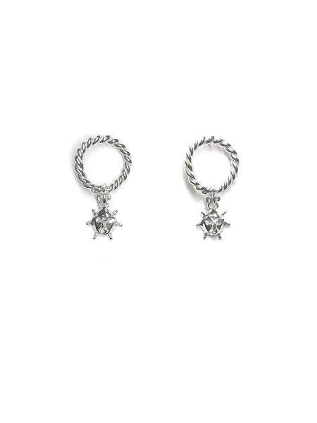 CLARK JEWELRY Ouroboros Sun Drop Earrings - Sterling silver
