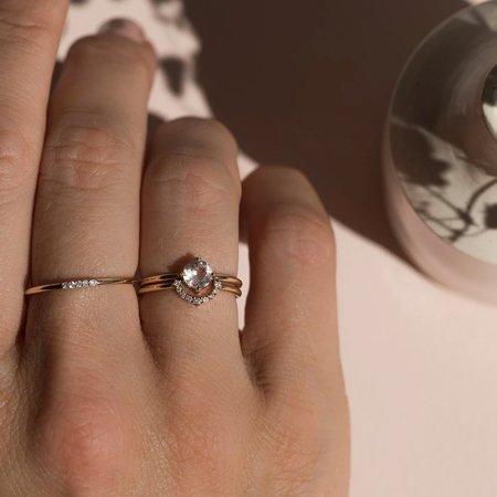 Leah Alexandra 14K Rainbow Ring with Diamonds