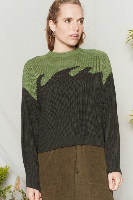 BackBeat Rags Organic Cotton Wave Sweater