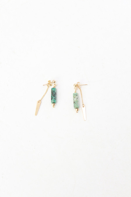 Petite Grand PG Turquoise Double Drop Earrings