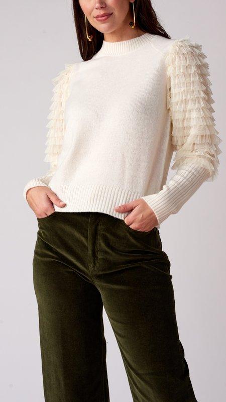 Sea NY Novia Princess Sweater - Ivory