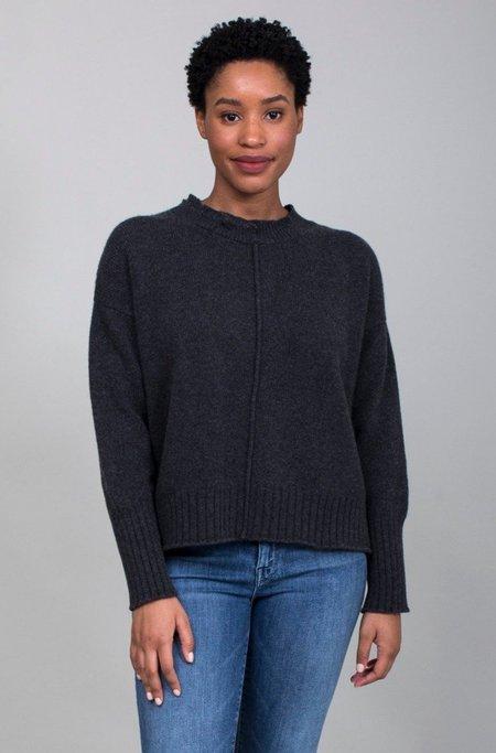 M J Watson Round Neck Sweater - Charcoal