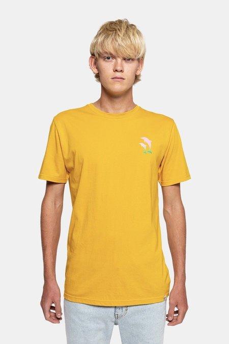 REVOLUTIONPRINTED DOLPHIN TSHIRT - yellow