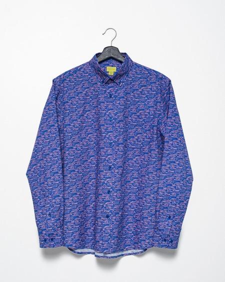 Poplin & Co. Casual Button Down Long Sleeve Shirt - Wise Owl Print