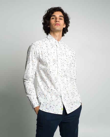 Poplin & Co. Casual Button Down Long Sleeve Shirt - Floral Vine