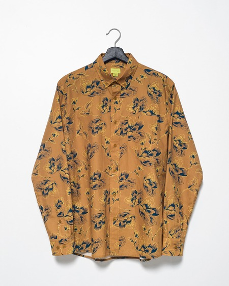 Poplin & Co. Casual Button Down Long Sleeve Shirt - Floral Bloom
