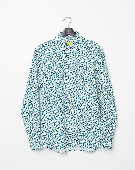 Poplin & Co. Casual Button Down Long Sleeve Shirt - Blueberry