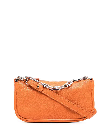 By FAR Mini Rachel Grained Leather Bag - Orange