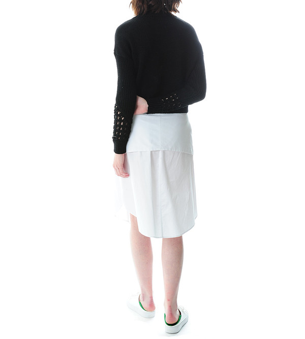 3.1 Phillip Lim Crewneck Pullover Sweater With Pointelle Stitch