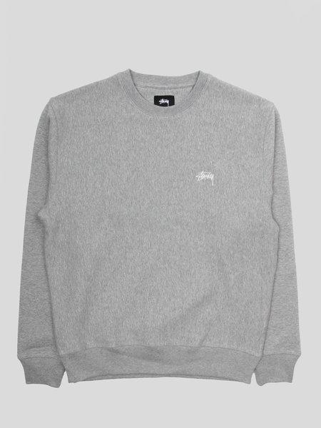Stussy Stock Logo Crew sweater - Heather Grey