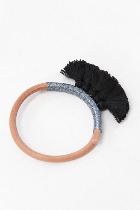 Krysos Chandi Tassel Nima Leather Bracelet