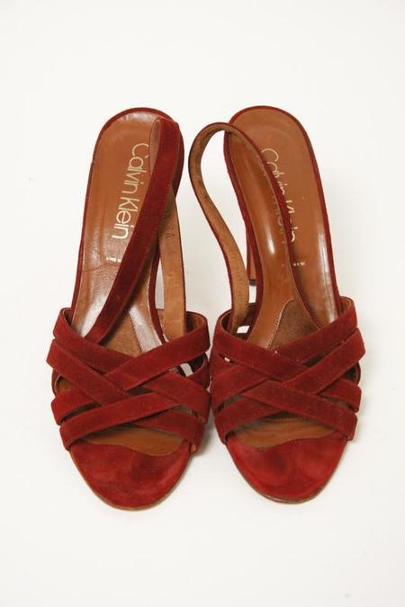 Vintage Calvin Klein Criss Cross Heels - Maroon
