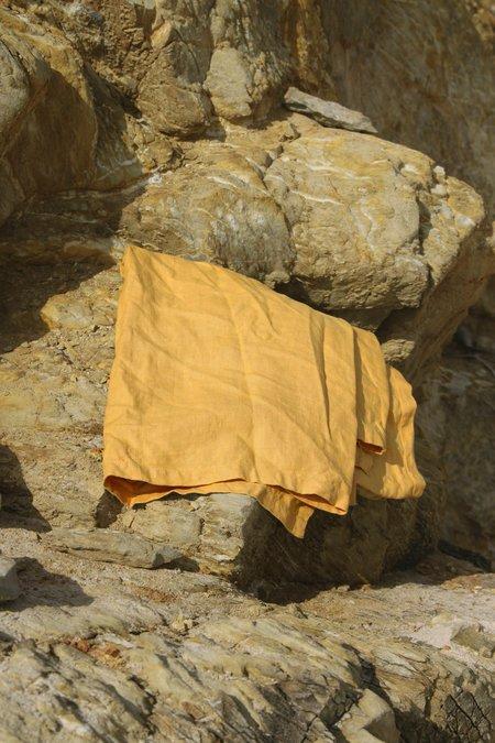 Hakea Linen Beach Blanket - Mustard