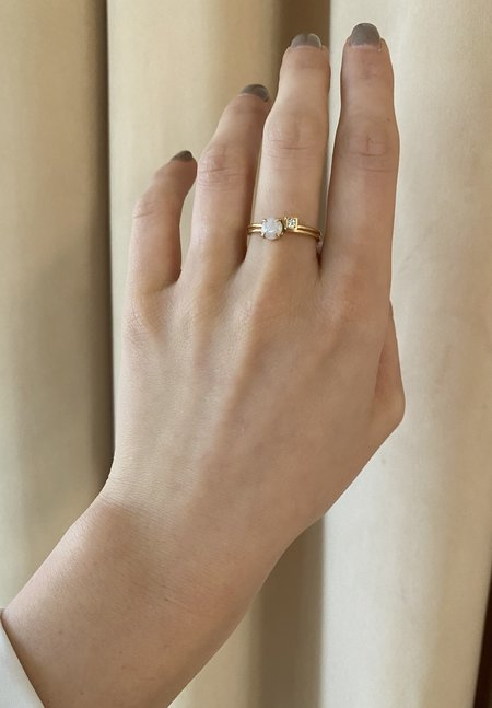 Nicole Kwon Concept Store 14K Gold Opal Ring
