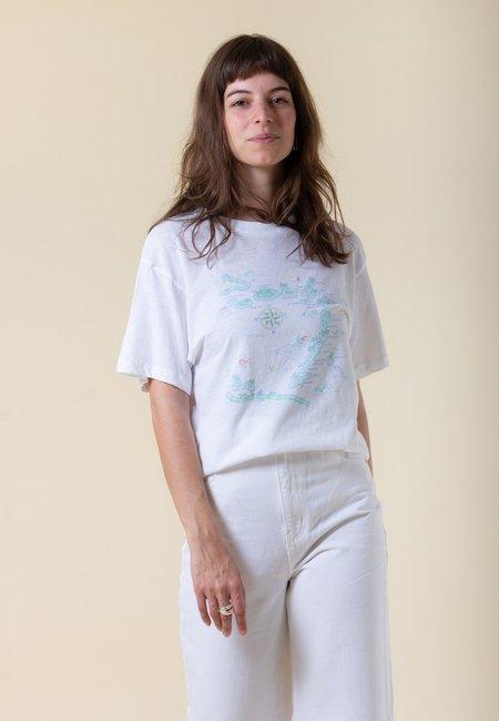 Rollas Caribbean Tomboy T-Shirt - vintage white