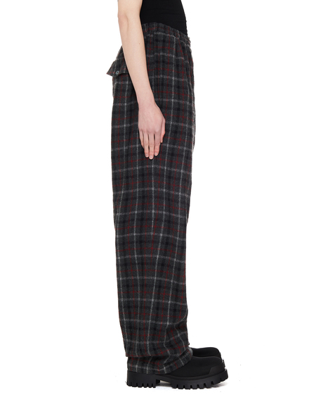 Undercover Wool Checked Trousers -  Multicolor