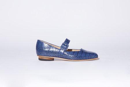 Zou Xou Eugenia Kim Flat - Croco Azul Instant Ship