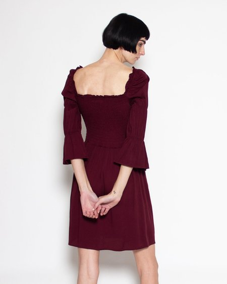 Shale Mare Chloe Ruched Dress - Cabarnet
