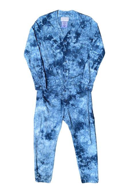 SEEKER Jumpsuit in Indigo Tie Dye