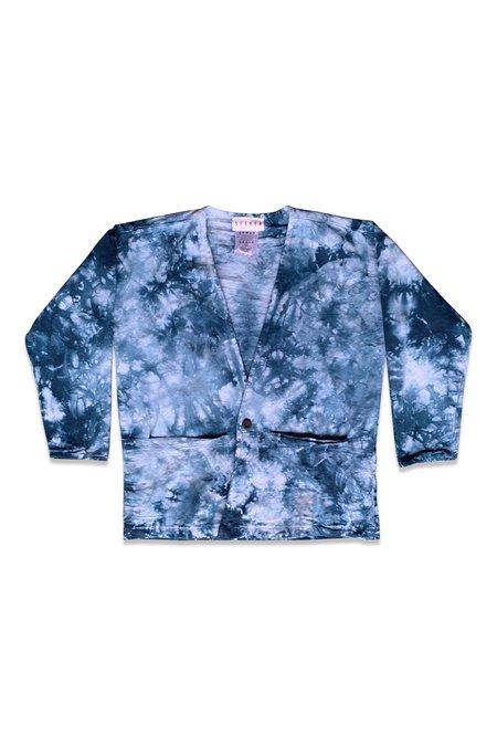 Unisex SEEKER Lab Coat - Indigo Tie Dye