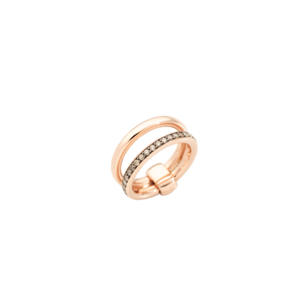 Pomellato Iconica Band Ring with Champagne Diamonds - 18k Rose Gold