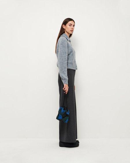 HVISK POUCH GALLERY BEADED bag - BLUE/BLACK