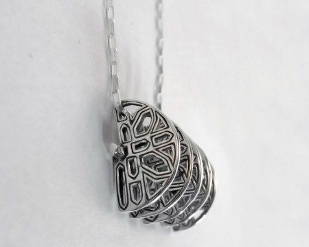 Lacar Vault Pin and Necklace - STERLING SILVER
