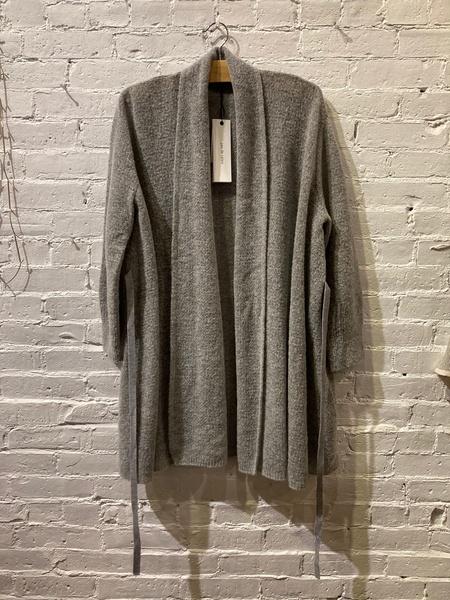 Pas De Calais Knit Shawl Sweater - gray