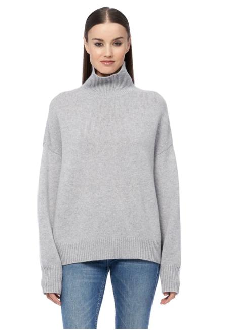 360 Cashmere Leia Sweater - Light Heather Grey
