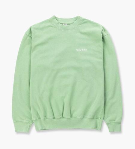 Sporty & Rich Classic Logo Crewneck Sweater - Pistachio