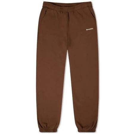 Sporty & Rich Serif Logo Sweatpant - Chocolate