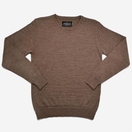 Outclass Roll Neck Merino Sweater - Hazel Brown