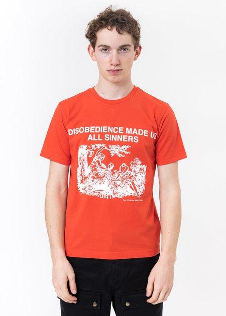 Vyner Articles Under  Adam Eve Print T-Shirt - Red