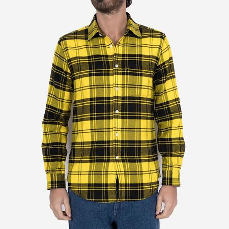 Portuguese Flannel Vila Plaid Flannel Shirt - Yellow/Black