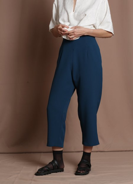 KAAREM Sua Tapered Trouser Pocket Pant - Turquoise