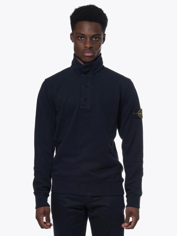 Men's Stone Island Half Zip Sweatshirt