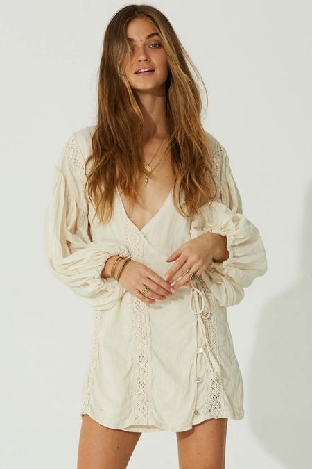 Jen's Pirate Booty Batik Mini Dress - White