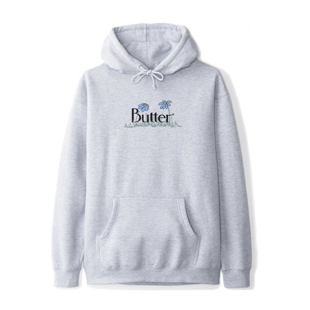 Butter Goods Flowers Classic Pullover - Heather Grey