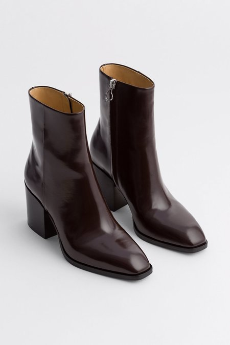aeydē Leandra Polido Boot - Chocolate
