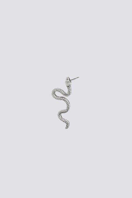 Talon Snake Earring Stud - Sterling Silver