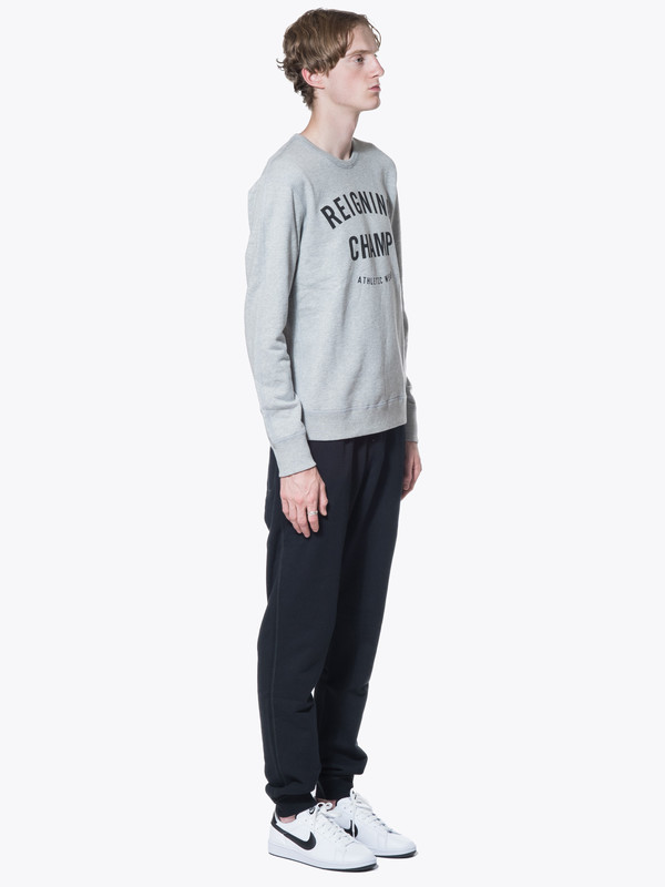 Reigning Champ Knit Mid Wt Terry Gym Logo LS Crew Neck