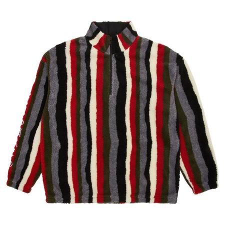 PLEASURES Old E Quarter Zip Sherpa sweater - Multi
