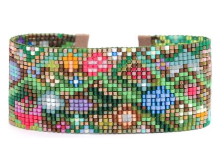 Julie Rofman Hand Woven Bracelet - Flowers