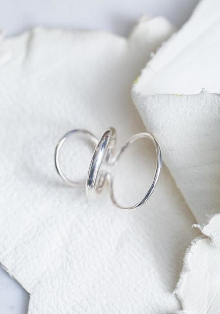 Saskia Diez Bold Wire Triple Mixed Earcuff - Sterling Silver