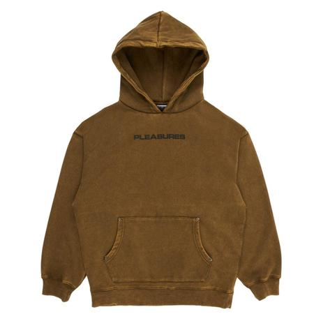 PLEASURES Burnout Dyed Hoody - Olive