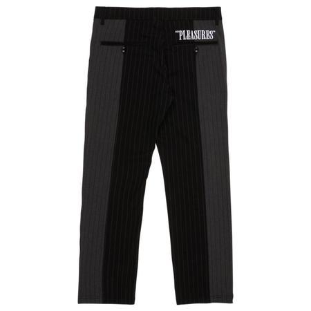 PLEASURES Shock Stripe Pants - Black/Grey