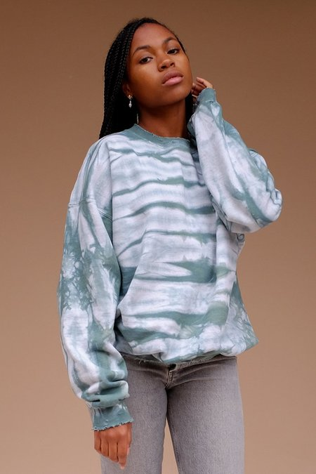 Eclectic Sun Island Evenings Pullover - Forest Tie Dye